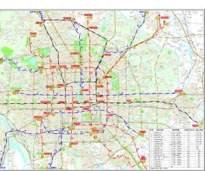 北京市地铁规划线路图